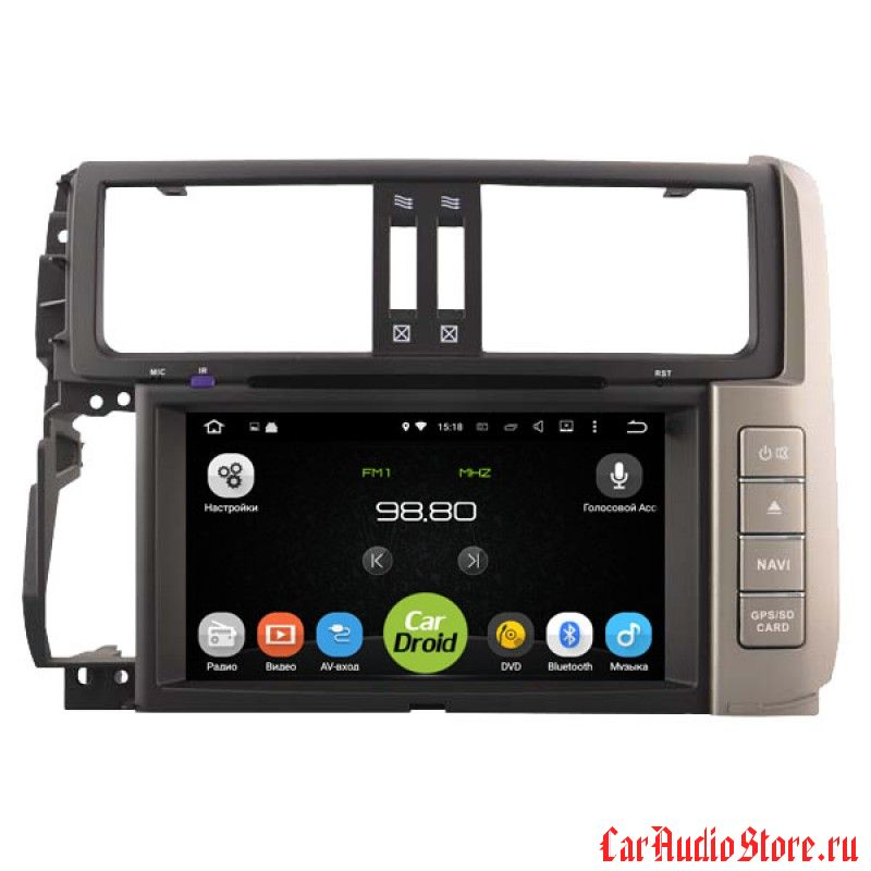 Roximo CarDroid RD-1114 для Toyota Land Cruiser Prado 150 2010 (Android 6.0)