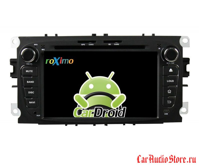 Roximo CarDroid RD-1702B для Ford Focus 2, Mondeo (Android 5.1.1) Black