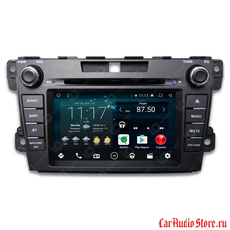 IQ NAVI D58-1905 MAZDA CX-7 (2006-2013) ANDROID 6.0.1 QUAD-CORE (8 ЯДЕР) 7""