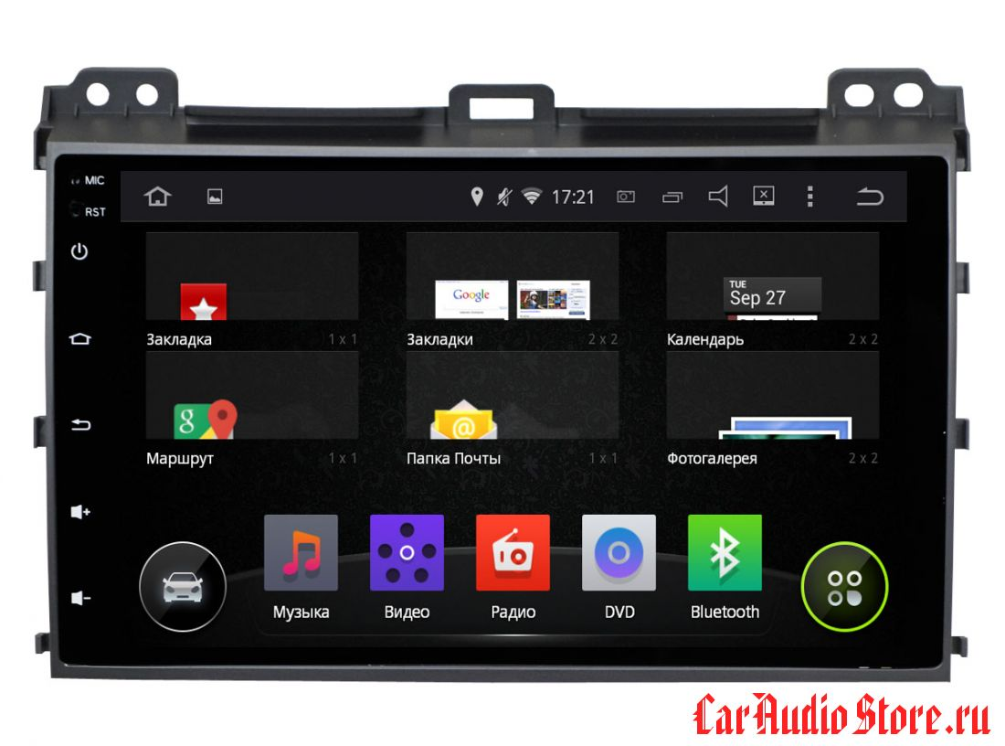 INCAR AHR-2236 TOYOTA LAND CRUISER PRADO 120 (ANDROID 5.1) 9,0""