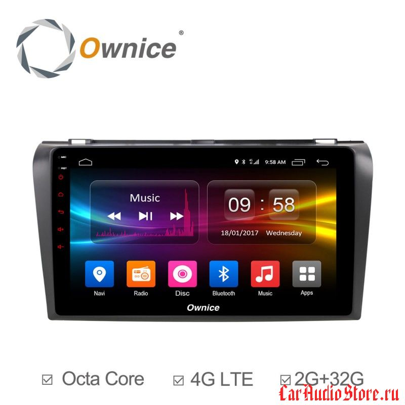 Ownice C500+ S9503P для Mazda Mazda 3, 2007-2012 (Android 6.0)