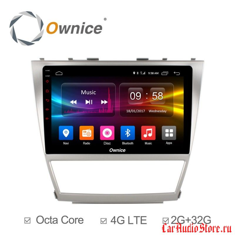 Ownice C500+ S1606P для Toyota Camry v40 (Android 6.0)