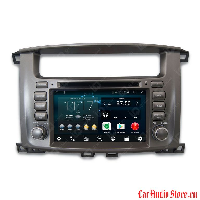 IQ NAVI D58-2908 TOYOTA LAND CRUISER 100 (2002-2007) ANDROID 7.1.2  OCTA-CORE (8 ЯДЕР) 7""